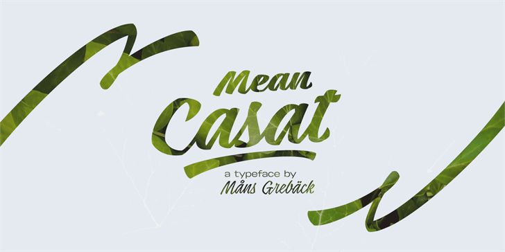 Mean Casat Light PERSONAL USE Font design typography