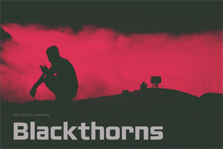 Blackthorns Demo Font poster