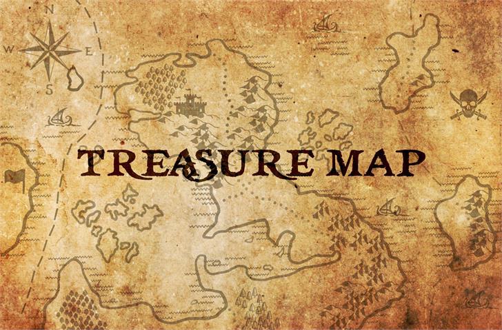 treasuremap Font poster