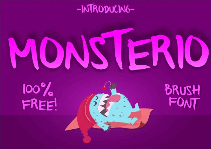 Monsterio Font poster