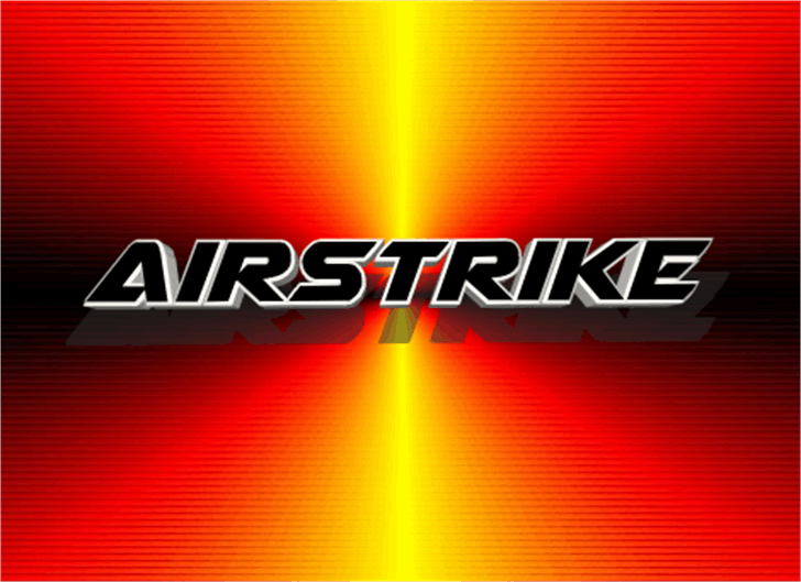 Airstrike Font screenshot orange