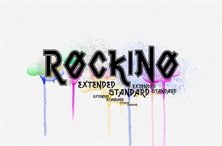 Vtks Rockino V2 Font design graphic