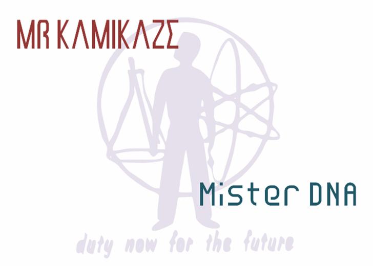 Mr Dna NBP Font design poster