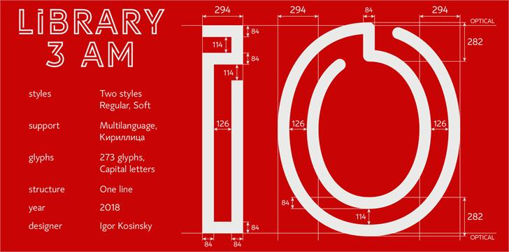 LIBRARY 3 AM font by Igor Kosinsky