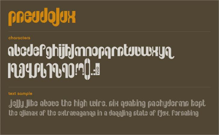 Pseudolux Font design text