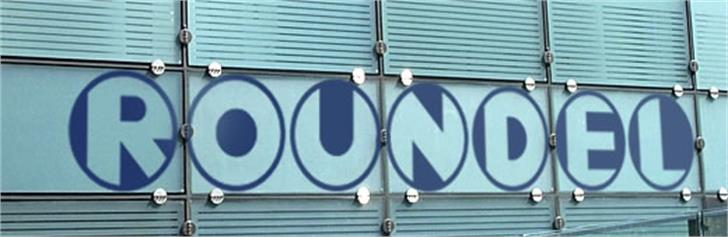 Roundel Font outdoor sign
