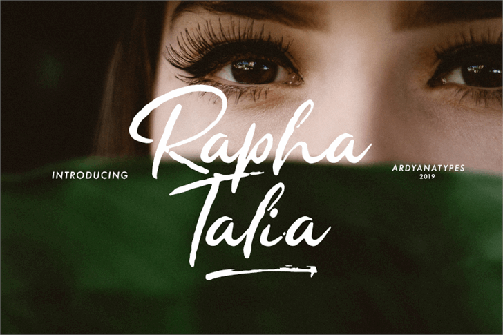 Rapha Talia Font handwriting design