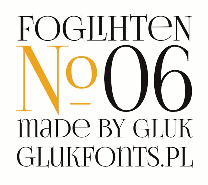FoglihtenNo06 Font design screenshot