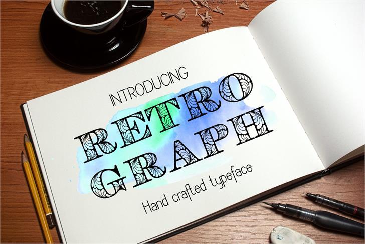 Retrograph Font handwriting design