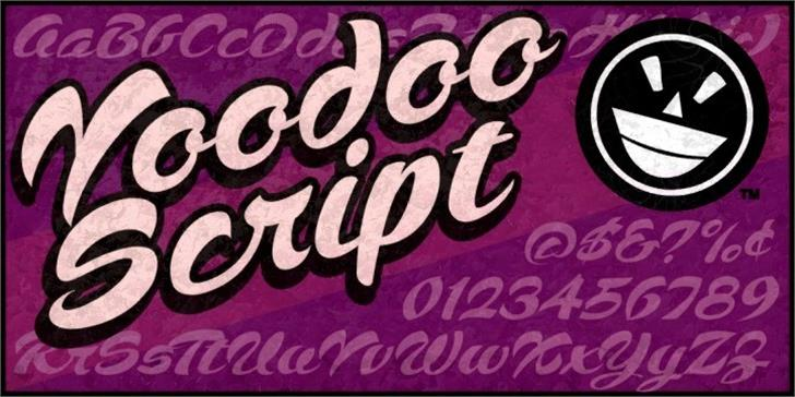 Voodoo Script font by the Fontry