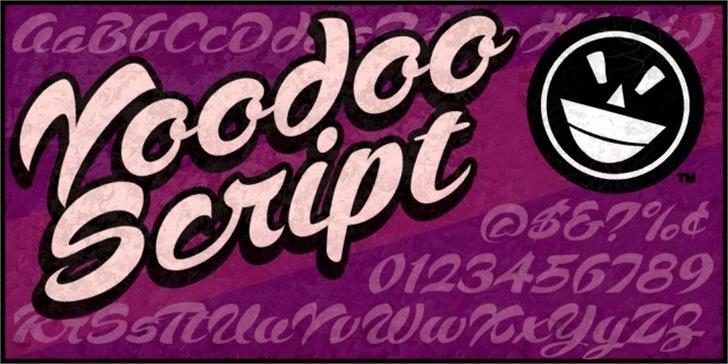 Voodoo Script Font handwriting poster