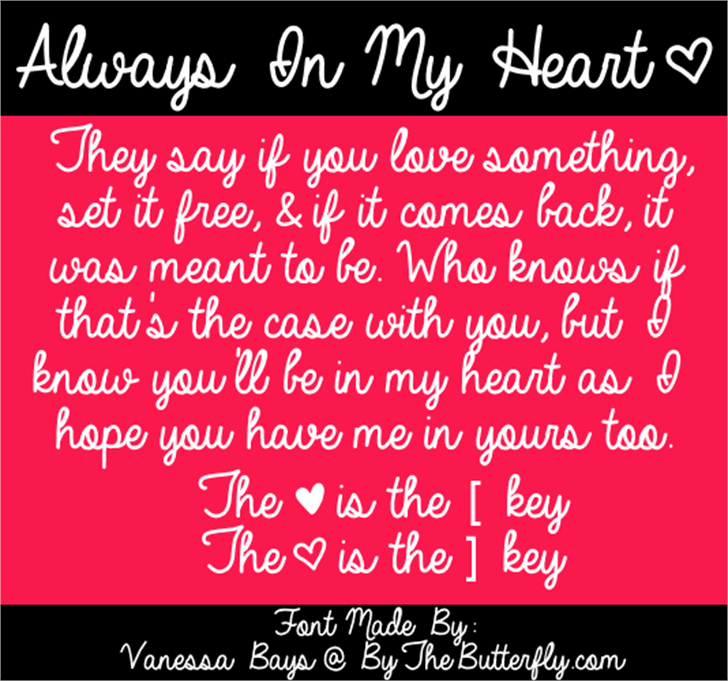 Always In My Heart Font text screenshot