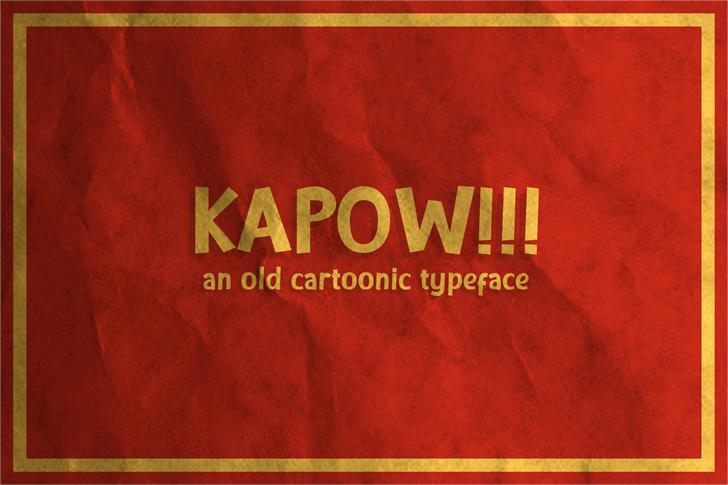 KAPOW Font poster