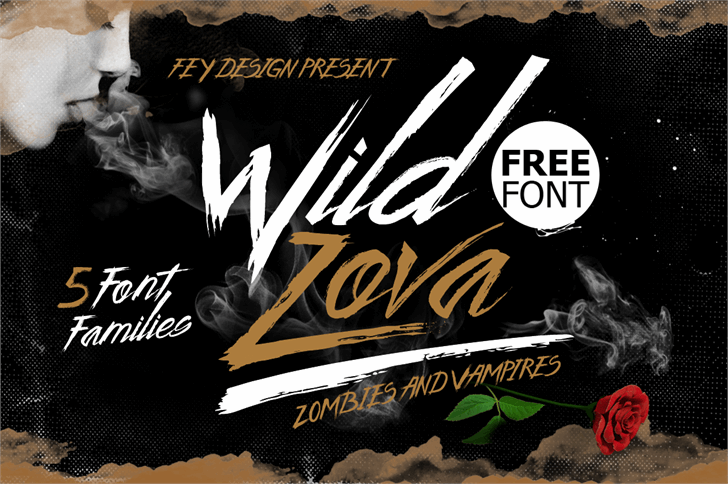 Wild Zova Free Font text book