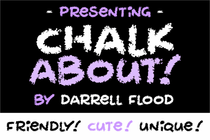 Chalkabout font by Darrell Flood