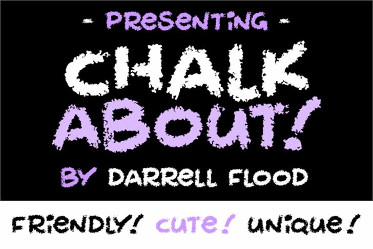 Chalkabout Font screenshot design