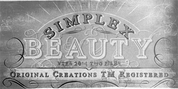 Vtks Simplex Beauty 2 Font text drawing
