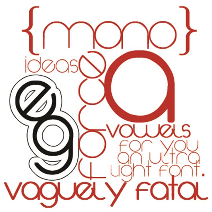 Vaguely Fatal Font design circle