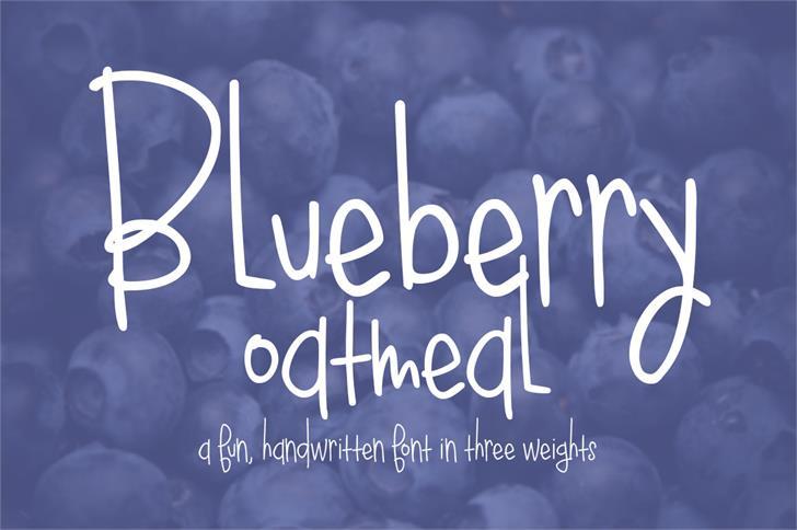 Blueberry Oatmeal Font blackboard text