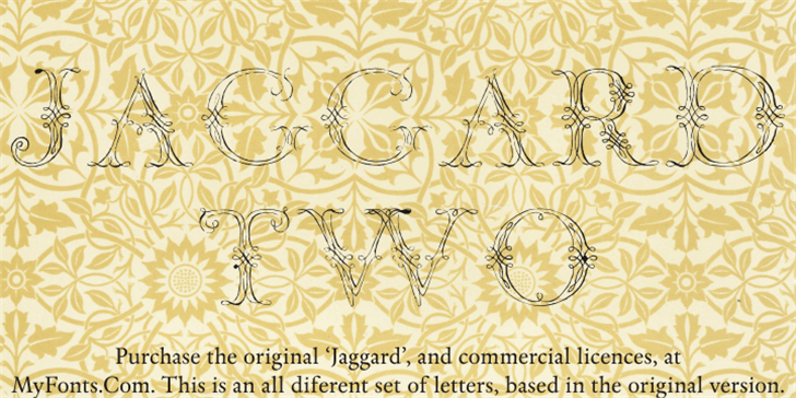 Jaggard Two Font drawing pattern