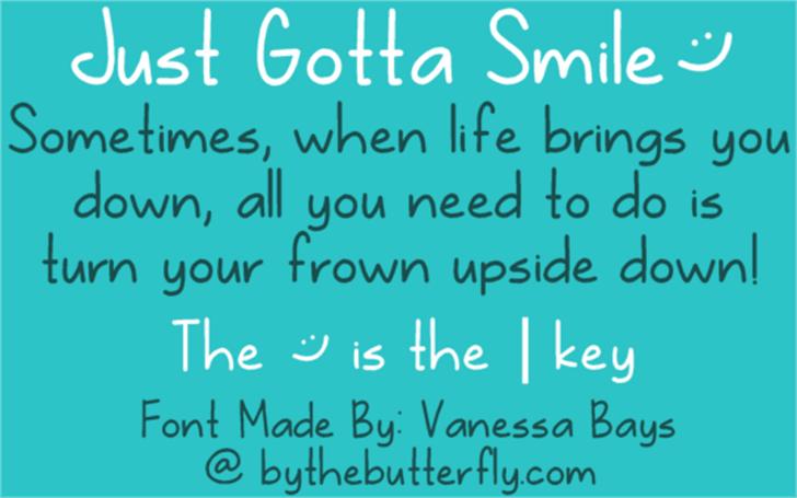 Just Gotta Smile Font handwriting screenshot