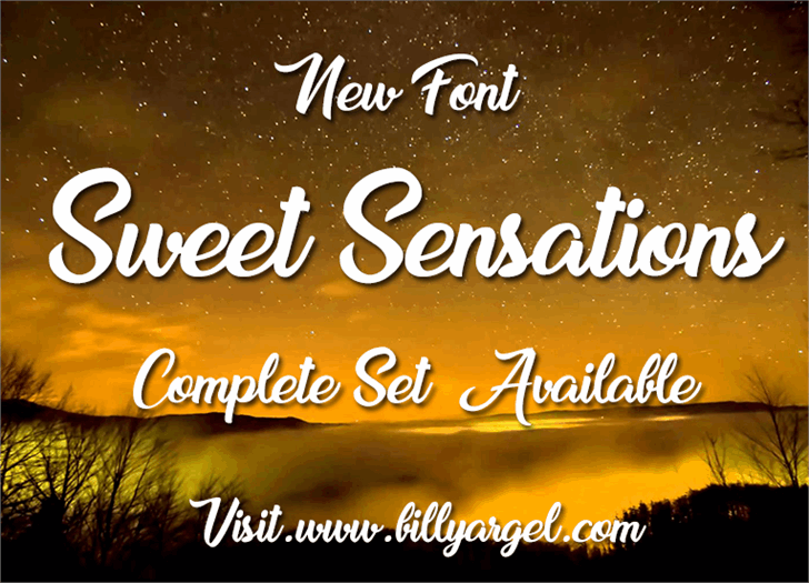 Sweet Sensations Personal Use font by Billy Argel