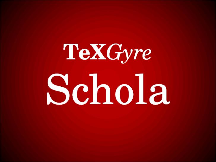 TeXGyreSchola Font design text