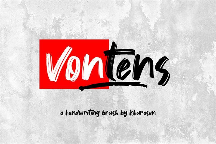Vontens Font text