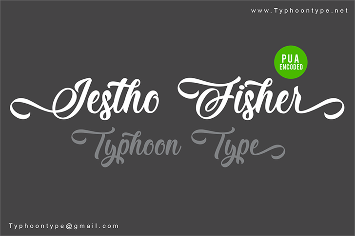 Jestho Fisher - Personal Use Font design text