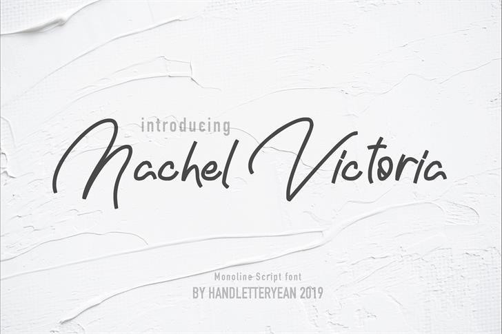 Nachel Victoria Font handwriting text