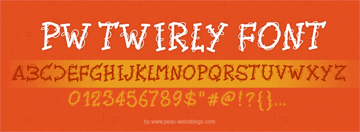 PWTwirly Font text design