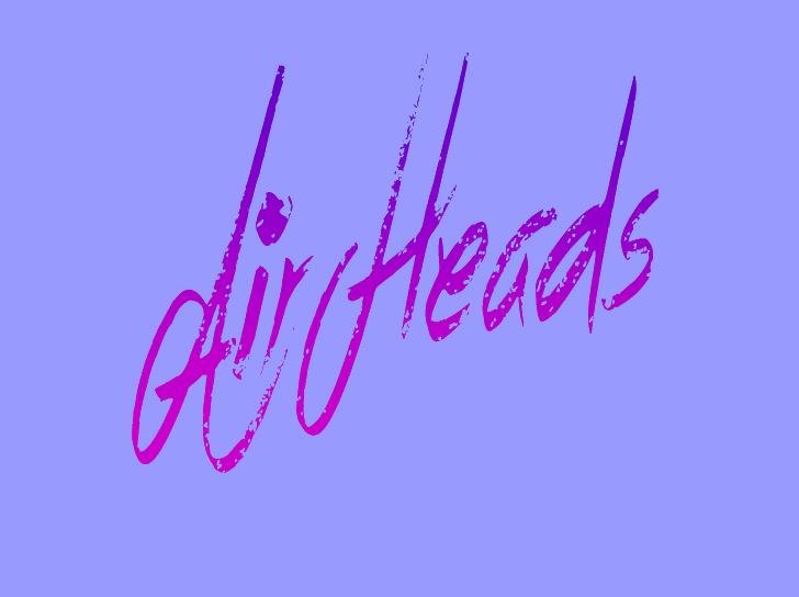 Air Heads Font handwriting graphic