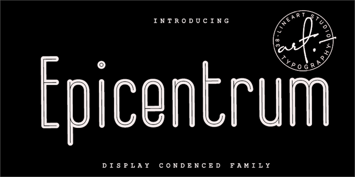 Epicentrum Font screenshot