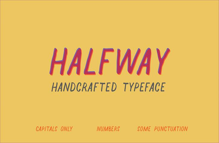 Halfway Font design handwriting