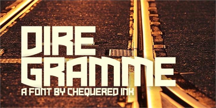 Dire Gramme Font poster book