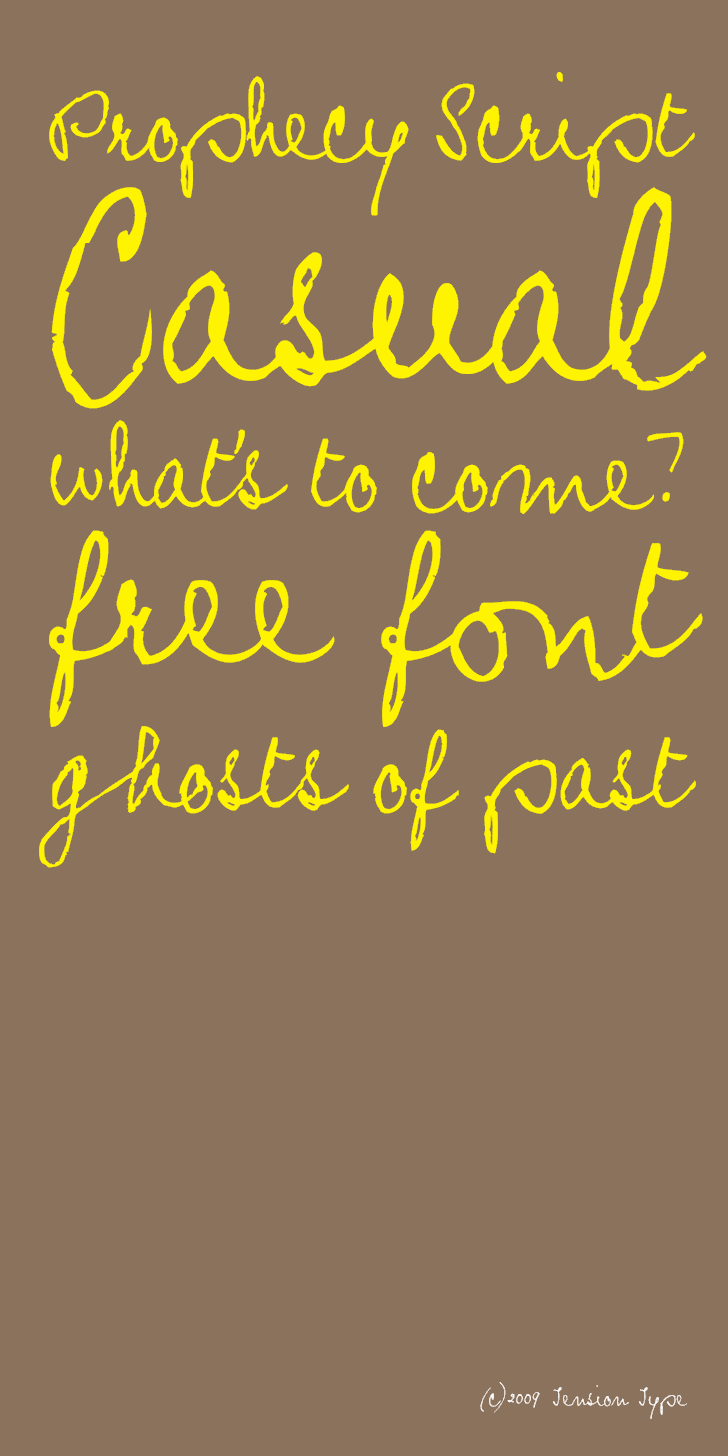 Prophecy Script Font handwriting text