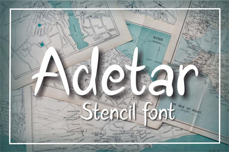 Adetar Font handwriting text