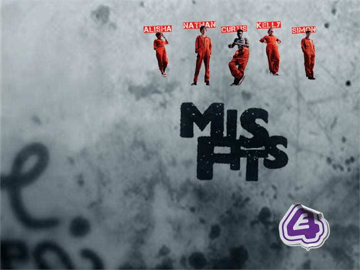 Misfits Font screenshot poster