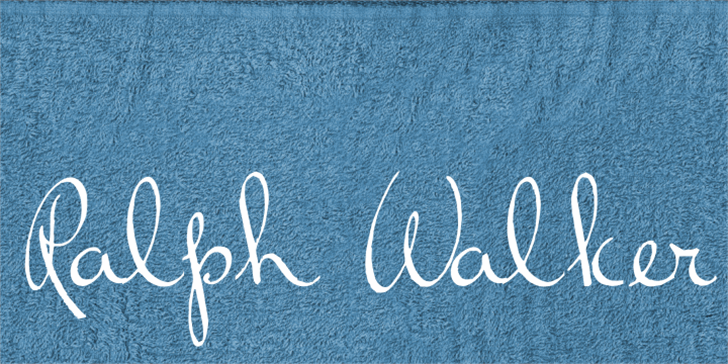 Ralph Walker Font handwriting blackboard