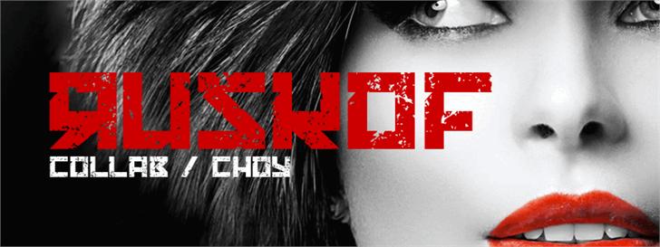 RUSKOF Font poster design