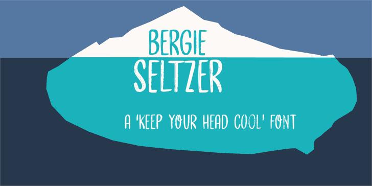 Bergie Seltzer DEMO Font poster