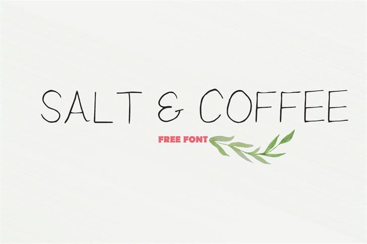 Salt___Coffee Font design handwriting