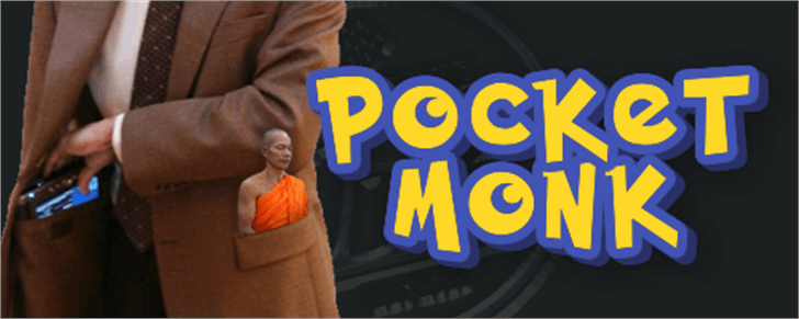 Pocket Monk Font person clothing