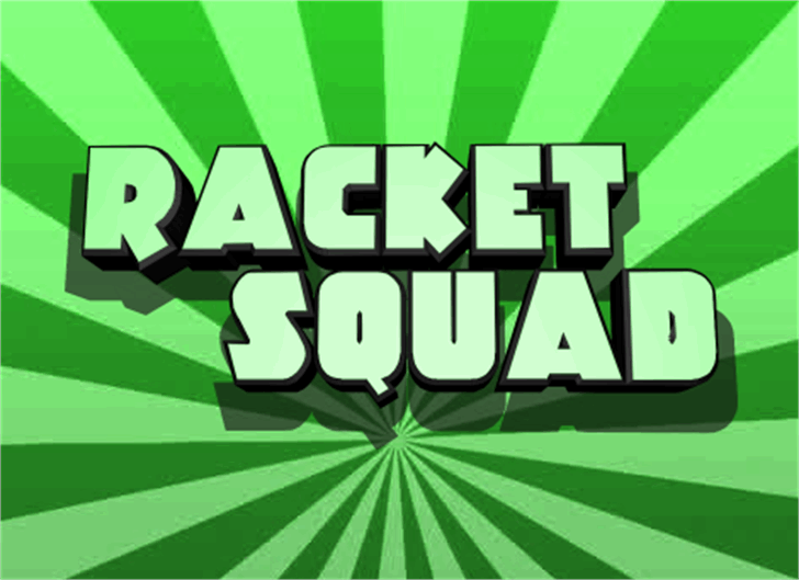 Racket Squad font by Iconian Fonts