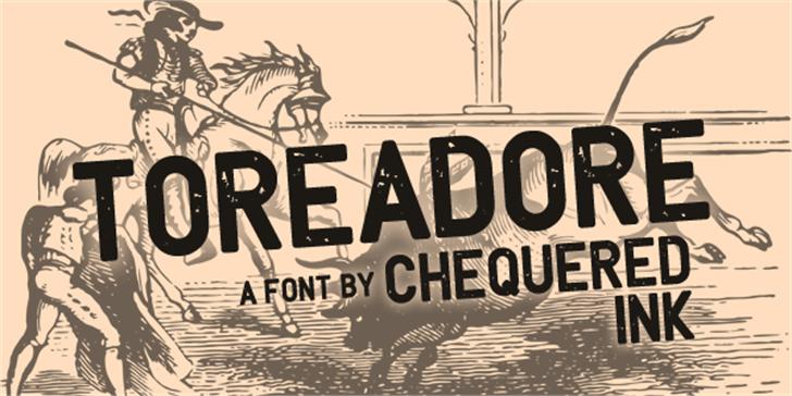 Toreadore Font book text