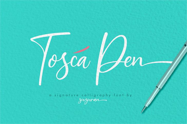 Tosca Pen Font handwriting design