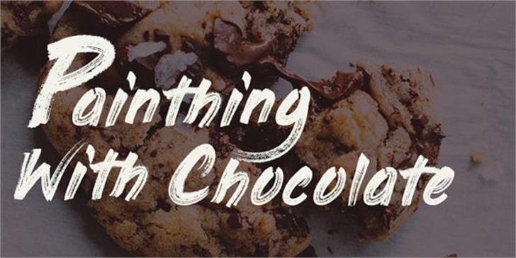 Painting With Chocolate font by Make mooze