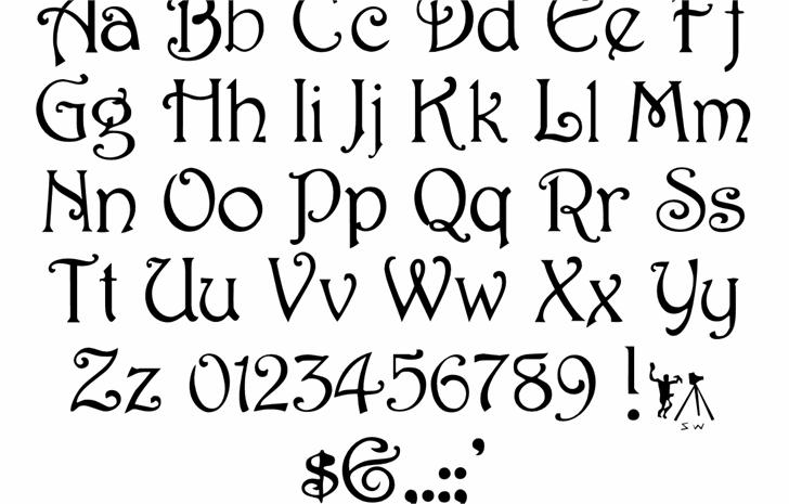 Harrington font by Sam Wang