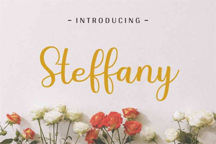 Steffany Font poster