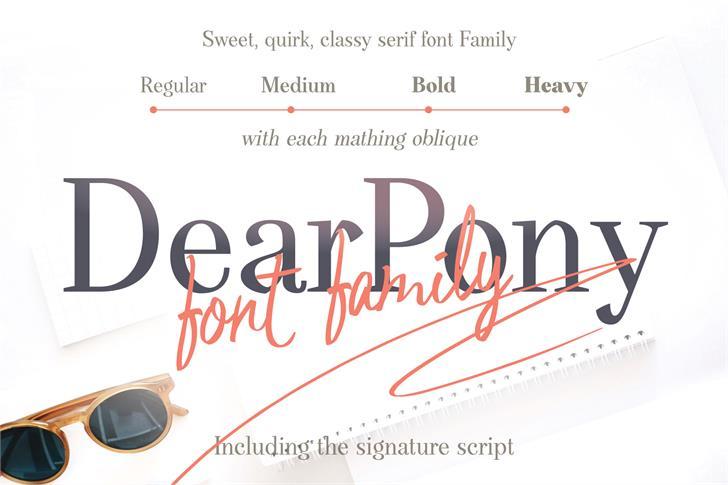 DearPonyPersonalUse Font text screenshot